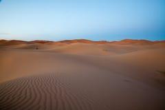 Пустыня Сахары, Merzouga, Marocco Стоковое Фото