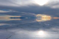 Пустыня Салара de Uyuni, Боливия Стоковое Изображение