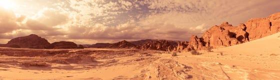 Пустыня Синай песка панорамы, Египет, Африка Стоковое фото RF