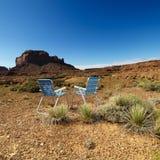 пустыня стулов Стоковое фото RF
