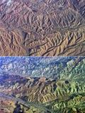 Пустыня с взглядом птиц-глаза Стоковая Фотография