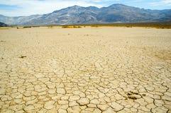 Пустыня с горами на горизонте Стоковое фото RF