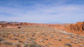 Пустыня с песком и скалами в красной консервации соотечественника каньона утеса стоковые изображения rf