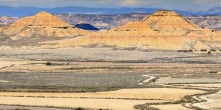 Пустыня Bardenas Reales в Испании стоковые фото