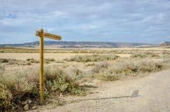 Пустыня Bardenas Reales в Наварре стоковые фото