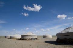 пустыня ger gobi лагеря стоковое фото rf