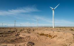 пустыня gobi энергии ветра Стоковая Фотография RF