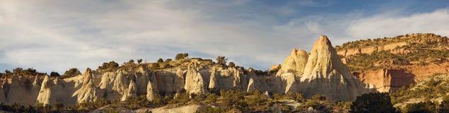 пустыня hoodoos заход солнца scenics стоковые изображения rf