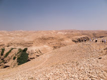 Пустыня Judaean - Святая Земля Стоковые Изображения RF