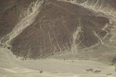 Пустыня Nazca, Перу, астронавт иероглифа Стоковая Фотография