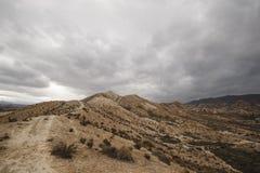 Пустыня Tabernas - AlmerÃa, Испания стоковые изображения rf