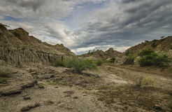 Пустыня Tatacoa в Колумбии стоковое изображение