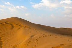 Пустыня Thar и голубое небо стоковые изображения rf