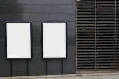 2 пустых афиши для рекламировать Стоковое фото RF