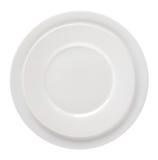2 пустых белых плиты изолированной на белой предпосылке Стоковые Фотографии RF