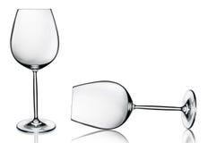 2 пустых бокала изолированного на белизне Стоковые Фотографии RF