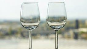 2 пустых бокала Стоковое Изображение