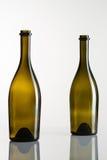 2 пустых бутылки вина Стоковое Изображение RF