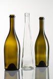 3 пустых бутылки вина Стоковая Фотография