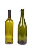 2 пустых бутылки. Шампань и вино. Стоковые Изображения RF