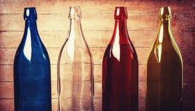 4 пустых бутылки Стоковое Фото