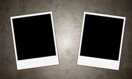 2 пустых винтажных рамки фото Стоковое Изображение