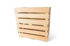2 пустых деревянных коробки Стоковая Фотография