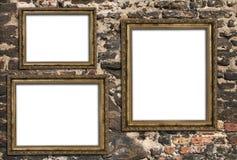 3 пустых деревянных рамки Стоковые Фото