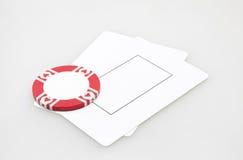 2 пустых карточки игры с обломоком казино Стоковое Фото