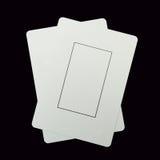 2 пустых карточки игры Стоковые Фото