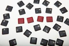 4 пустых красных кнопки на составленной клавиатуре Стоковое Изображение RF