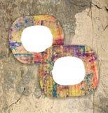 2 пустых красочных покрашенных рамки картона Стоковое Изображение