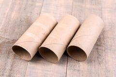 3 пустых крена туалетной бумаги Стоковые Изображения RF