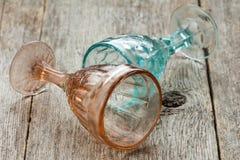 2 пустых кристаллических стекла Стоковая Фотография