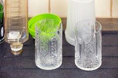 2 пустых кристаллических стекла Стоковое Изображение