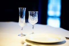 2 пустых кристаллических стекла Стоковое Изображение RF
