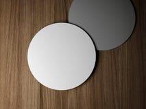 2 пустых круглых карточки Стоковое Изображение RF