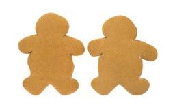 2 пустых печенья людей пряника Стоковая Фотография