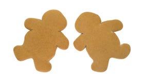 2 пустых печенья людей пряника Стоковые Фото