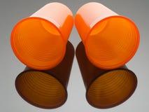 2 пустых пластичных чашки от торгового автомата Стоковая Фотография RF