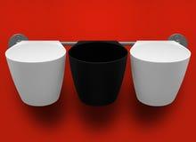 3 пустых пластичных чашки Стоковое Фото