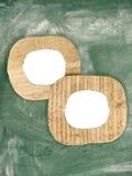 2 пустых рамки картона на доске Стоковая Фотография