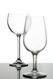 2 пустых стекла вина Стоковые Изображения