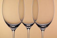 3 пустых стекла вина Стоковое Фото