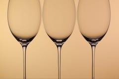 3 пустых стекла вина Стоковое фото RF
