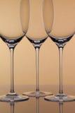 3 пустых стекла вина Стоковое Изображение