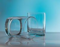2 пустых стекла вискиа Стоковое Фото