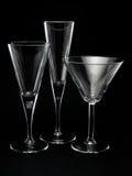 3 пустых стекла коктеиля Стоковое фото RF