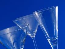 3 пустых стекла коктеиля Стоковое Фото