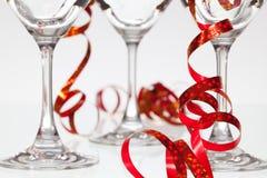 3 пустых стекла на шампанском Стоковое Изображение